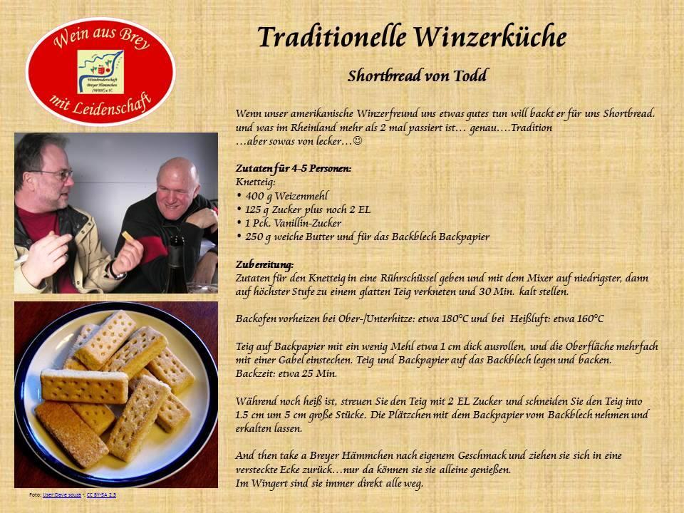 ...mit unserem Weinbruder Todd erobern amerikanische Goodies den Wingert...