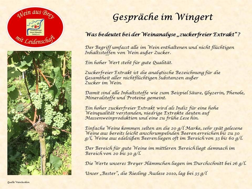 Was Bedeutet Bei Der Weinanalyse Zuckerfreier Extrakt Wbh