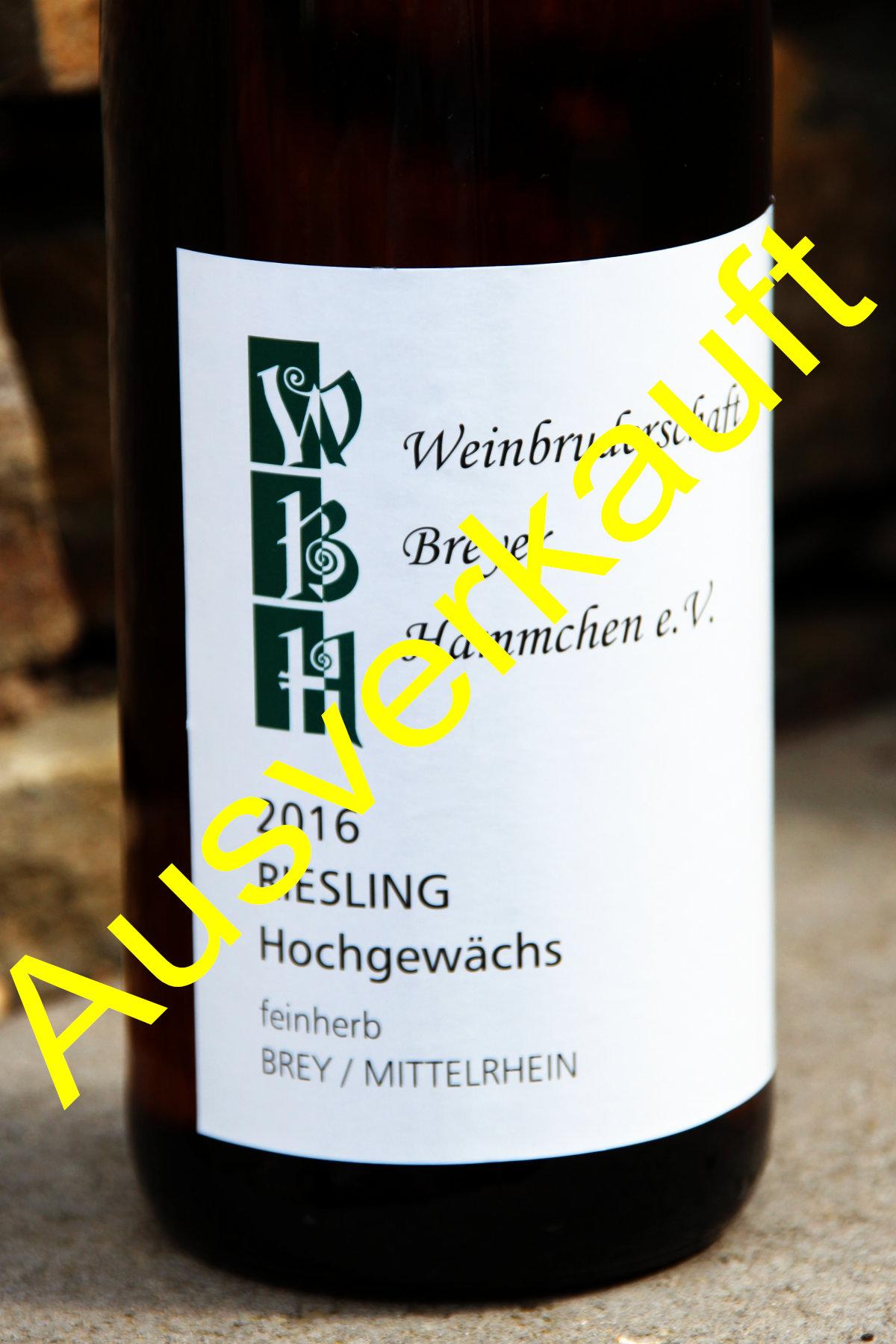 Breyer Hämmchen Hochgewächs –feinherb- 2016 – Silbermedaille
