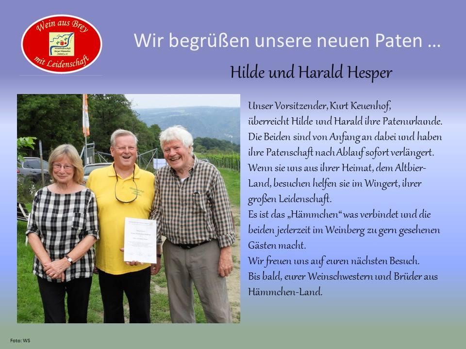Willkommen im Club-Hilde und Harald Hesper