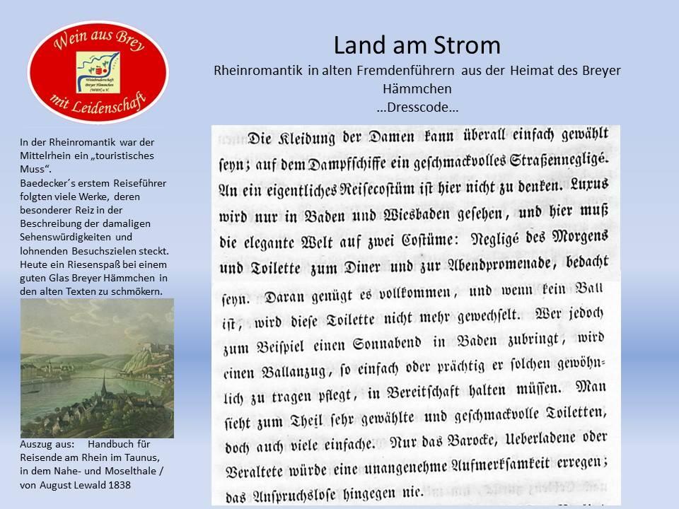 ...Kleidervorschrift zu Zeiten der Rhein-Romantik...
