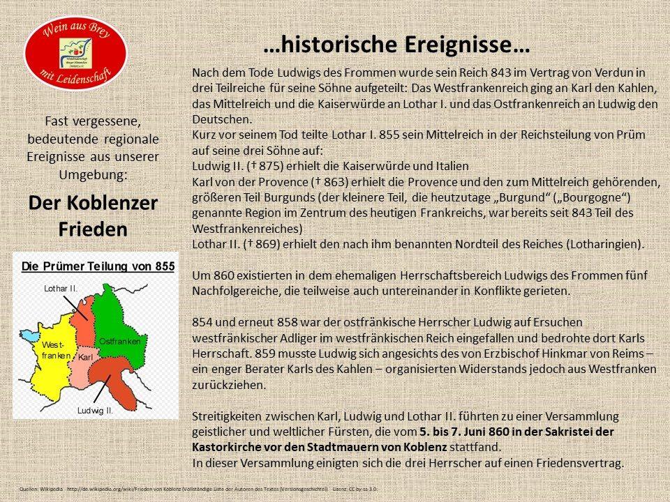 ...der Koblenzer Frieden...