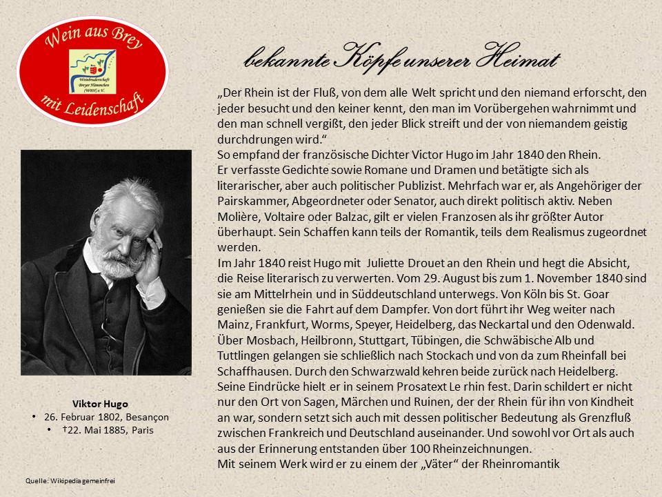 ...wichtiger Werbepartner für den Mittelrhein...