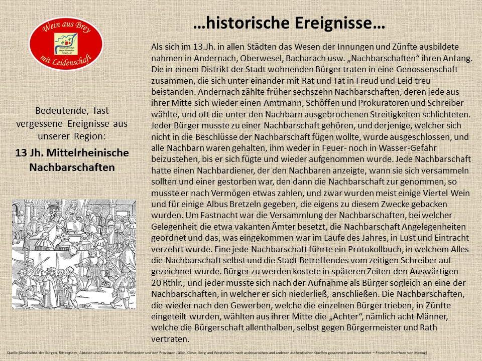 ...mittelrheinische Nachbarschaften...